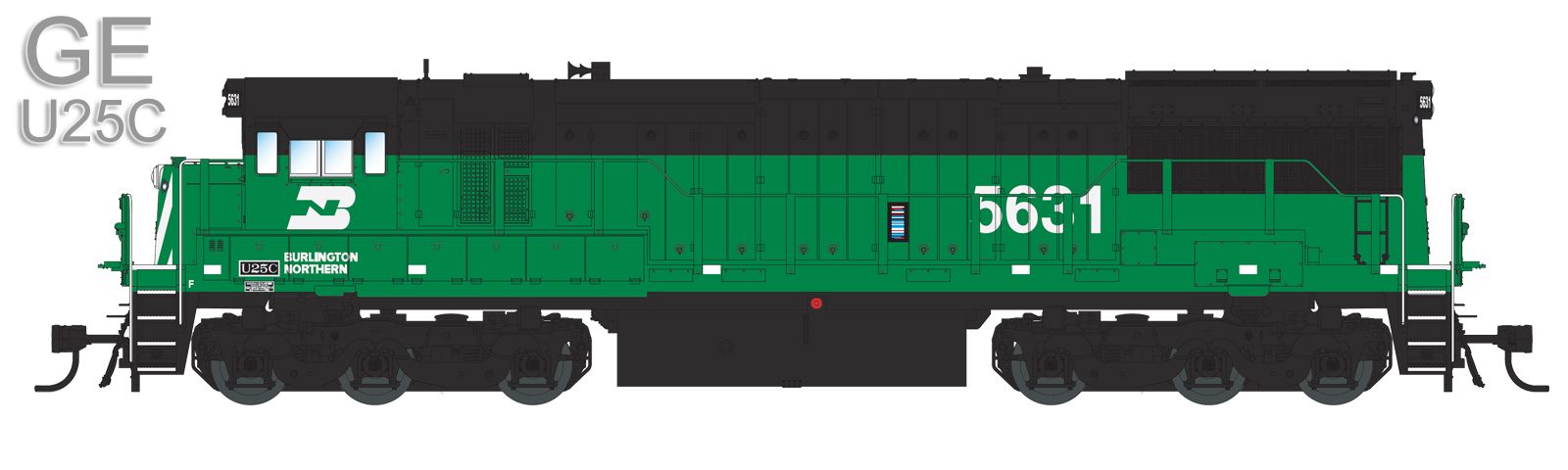 Burlington Northern (Coming Soon): 5631, 5635, and 5640